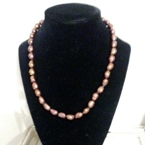 "18""long Honora freshwater cultured brown pearls"